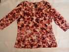 East 5th L or XL Choice Pull over Casual Shirt NWT 3/4 Sleeves Pinks