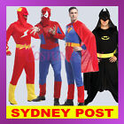 Mens Superheroes Superman Spiderman Batman Flash Halloween Fancy Adult Costume