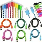 Braided Fabric Data&Sync Charger Cable Cord For iPhone 6 Plus 5 5S/C3FT/6FT/10FT