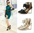 Sexy Womens Pointy Toes Clear Wedge High Heel Hollow Vogue Party Shoes 3 Color