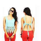 Fashion Sexy Women Summer Sleeveless Camisole Casual Crop Blouse Top Shirt