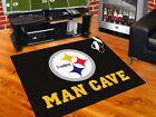 Pittsburgh Steelers Man Cave Area Rug 3 Sizes
