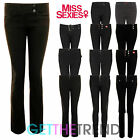 Womens Girls Black Grey School Hipsters Miss Sexies Stretchy High Low Waist Pant