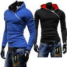 Mens Slim Fit Pullover Hooded Jacket Sweatshirt Hoodie Jumper Coat Size S M L XL