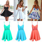 Sexy Women Summer Casual Lace Sleeveless Evening Party Cocktail Short Mini Dress