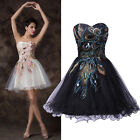 Teen/Prom Girls Retro PEACOCK Cocktail Evening Party Bridesmaid Ball Gowns Dress