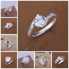 60 designs for choose! 925 Sterling Silver multi shapped style Finger Rings