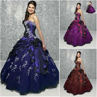 New Long Woman's Evening Formal Party Prom Dress Ball Gown Size 6 8 10 12 14 16