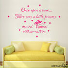 Personalised Princess name with quote Kids /Nursery Removable Wall Sticker Decal