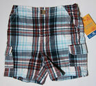 NWT: New Sonoma Red & Blue Plaid Shorts, 12 or 18 Months, Rtls $20