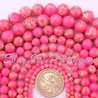 """4-10mm Round Pink Imperial Jasper Gemstone For Jewelry Making Spacer Beads 15"""""""