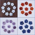 18mm Center drilled Small hand Carved gemstone flower jewelry beads