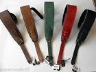 """UK MADE 2.75"""" SOFTEE ADJUSTABLE BUCKLE LEATHER PADDED GUITAR STRAP - 5 COLOURS"""