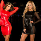 sexy lingerie red black uniforms elastic lace Nightwear costumes nightgown dress