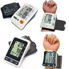 Auto Digital Arm Wrist Blood Pressure Monitor Hearbeat Meter Large LCD Memory