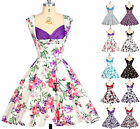 PLUS SIZE 50s 60s Vintage Swing Jive Rockabilly Pin Up Housewife Evening Dresses