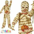 CHILD HALLOWEEN EGYPTIAN SCARY GUTSY MUMMY ZOMBIE -kids boys fancy dress costume