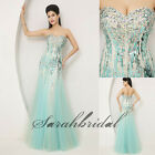 In Stock Crystal Sequined Prom Evening Dresses Pageant Party Formal Mermaid Gown
