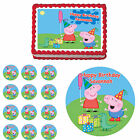 peppa pig edible cake decorations - Peppa Pig Edible Birthday Party Cake Cupcake Topper Decoration