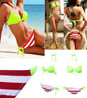 Sexy Women Bikini Bandeau PushUp Padded Bra Triangle Swimwear Swimsuit Beachwear