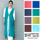 OH MY GAUZE Cotton ASPEN Vest Long Duster Top OS L/XL/1X/2X/3X  2015 DISC COLORS