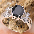 Exquisite Black Sapphire GEMSTONES Silver Jewelry Ring Size6 /7 /8 /9 T7949