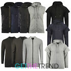 Mens Hoodie Designer Longline Hooded Top Branded Plain Long Sweat Gilet Jumper
