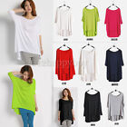 Lady's 3/4 Sleeve Loose Large Size Model Irregular Tops Blouse T-Shirt Pullover