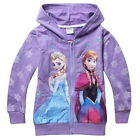 Girls Kids Frozen Elsa Anna Hoodies Top T-Shirts Outwear Jacket 3-8Y Jumper Coat