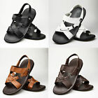 Mens Real Leather Sandals Casual Gladiator Desert Beach Strap UK 6 7 8 9 10 11