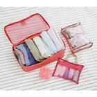 Set of 3 Portable Travel Luggage Clothes Underwear Storage Cosmetic Bags 2 Color
