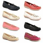 Womens Ladies Flat Low Heel Ballerina Pumps Casual Summer Loafers Shoes Size