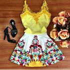 Sexy Ladies Summer Floral Sleeveless Evening Party Cocktail Short Dress UK 6-14