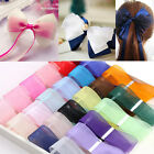 "3/8"" 9 mm 50 Yards Satin Edge Sheer Organza Ribbon Bow Craft Wedding 13 Colors"
