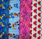 MICKEY MOUSE  #7 Fabrics, Sold Individually, Not As a Group, By The Half Yard