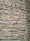 Hand Woven Neutral Denim Area Rug 5x8/8x10 Coastal Decor Off White Blue NEW