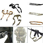 Tactical 2 Two Dual Point Rifle Gun Sling Adjustable Bungee Strap Quick Release