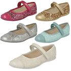 Girls Clarks Glitter Party Shoes Dance Idol