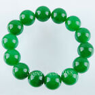 14mm Agate Jade Amethyst Gemstones Round Beads Stretch Bracelet 7 inches SBK147