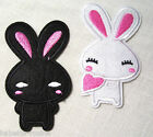 ÉCUSSON PATCH BRODÉ thermocollant LAPIN PLAYBOY COEUR **6 x 9 cm**