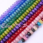 DIY JEWELRY MAKING FACETED 5X8MM RONDELLE JADE SPACER GEMSTONE BEADS STRAND 15""