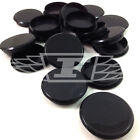 35mm BLACK PLASTIC HINGE HOLE COVER CAPS FOR KITCHEN CABINET CUPBOARD DOORS