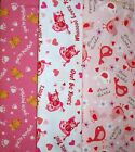 Clearance VALENTINES #1Fabrics,Sold Individually,Not As a Group,By The Half Yard
