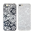Carved Damask Vintage Flower Matte Hard Case Skin Cover For IPhone 5 5S