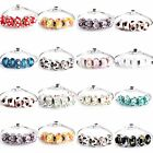 5X MURANO Lampwork Glass Beads For Charms European Bracelet 47 Colors