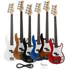 New Vintage Brand 4-String Jazz Electric Bass Guitar Black Blue White Red Yellow