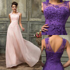Wedding Guest PLUS WIDE Long Prom Cocktail Evening Gown Bridesmaid Party Dresses