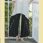 OH MY GAUZE Cotton DALLAS Button Detail Pant Long 1(S/M) 2(L/XL) 3(1X/2X) BLACK