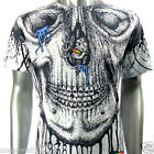 Minute Mirth T-Shirt Tattoo Skull Graffiti N44 Sz M L Rock Punk Street Skate bmx
