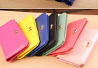 Korean Women Soft Leather Bowknot Clutch Wallet Long Purse Handbag Cards Holder